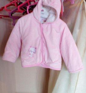 Плюшевая розовая курточка