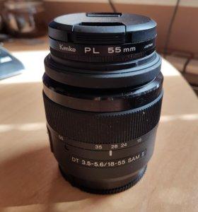 Объектив Sony DT 3.5-5.6/18-55 SAM II с фильтром
