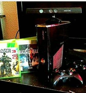Xbox 360 2 джостика 37 игр кинект