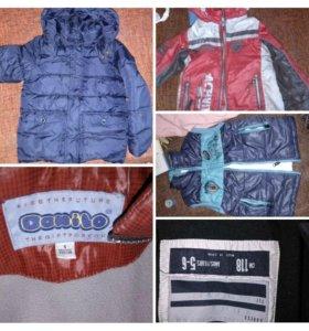 Куртки на 5-7лет