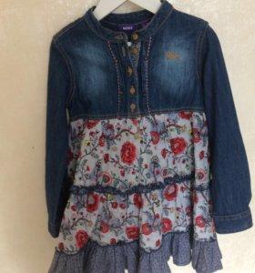 Платье джинсовое рост 116