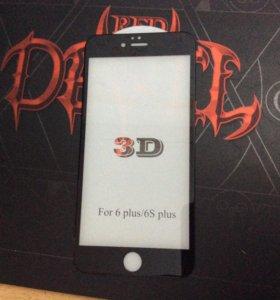 Стекло 3D для IPhone 6 черный цвет