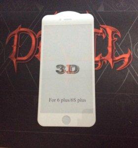 Стекло 3D IPhone 6 белый цвет