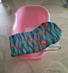 Детская ванночка+горка для купания