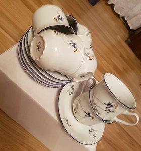 """THUN Чайные пары 6 персон 12 пр. """"Гуси """""""