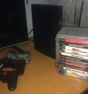 PS3 super slim 500 gig + игры .