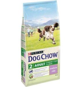 DOG CHOW (Дог Чау) ADULT. 14кг, корм для собак.