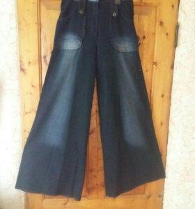Джинсы юбка-брюки р-р 48