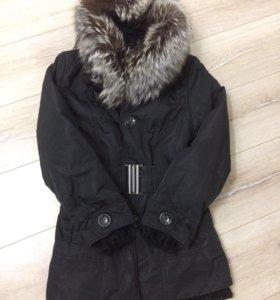 Куртка зимняя с чернобуркой и кроликом