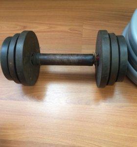Гантеля 10 кг