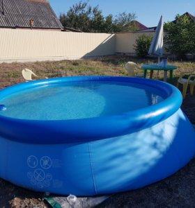 Продаю надувной бассейн с электрофильтром