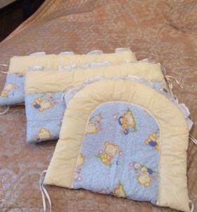 Бортики,балдахин,комплект постельного,одеяло,подуш