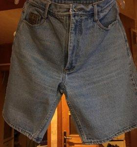 Шорты джинсовые чуть выше колена Польша р.48