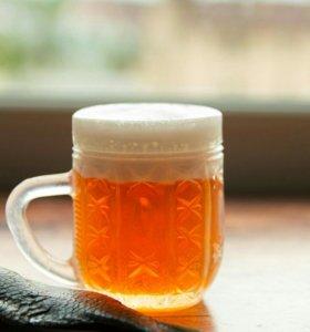 Мыло ручной работы, пиво с рыбкой