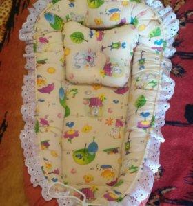 Кокон-гнездышко для новорожденных.