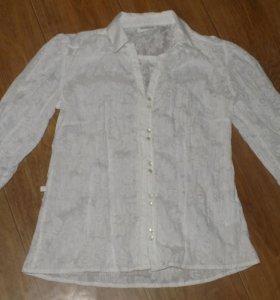 Блуза летняя, полупрозрачная