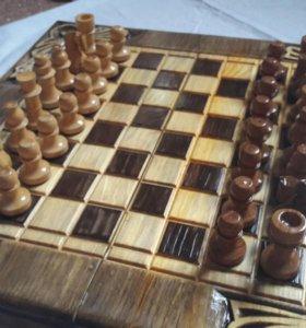 Нарды + шахматы + шашки. Новая цена!!!!