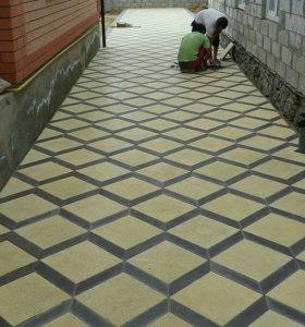 Установка тратуарных плиток