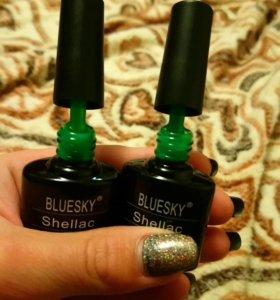 Гель - лаки блюскай новые 2 зелёных оттенка