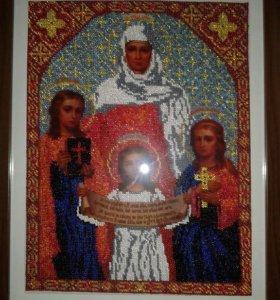 Картина икона Вера,Надежда,Любовь и мать София.