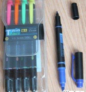 маркер фломастер цветн набор из 5 штук Twin Liner