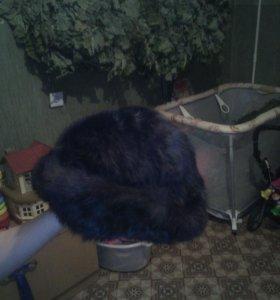 Меховая шапка из кроличьего меха