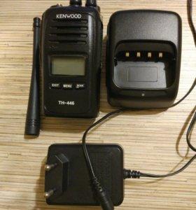 Рация Kenwood TH-433/446 и Ларингофон EMP-3076
