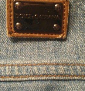 Дизайнерская джинсовая куртка D&G