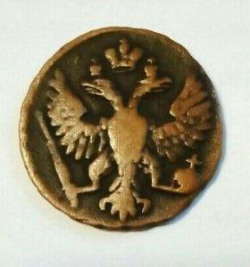 Старинная монета 1748 года