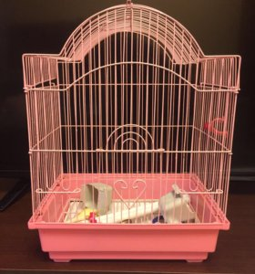 Клетка,кормушки,поилка и игрушки для попугай
