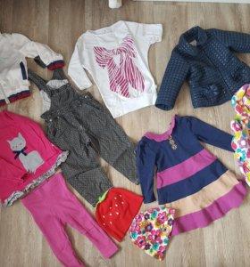Комплект вещей на девочку 80-86