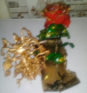 Подставка под ручки кованое дерево и роза