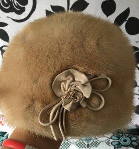 норковая женская шапка новая