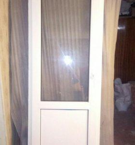 Дверь пластиковая (балкон)