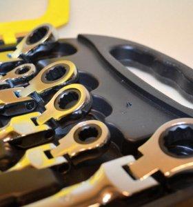 Набор ключей накидных с трещеткой в кейсе