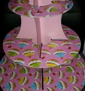 Подставка/этажерка для кексов/капкейков/пироженых
