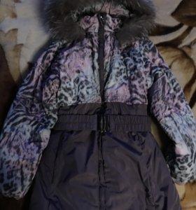 Зимнее пальто, шапочка в подарок