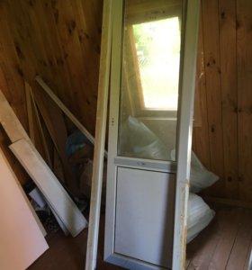 Дверь балконная и окно