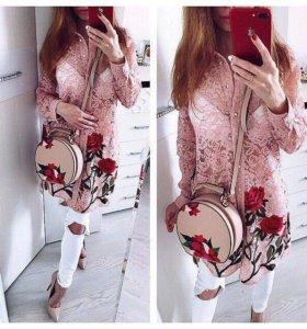 Новое кружевное рубашка платье и Bebe Guess Zara