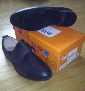 натуральные кожанные ботинки-туфли 38