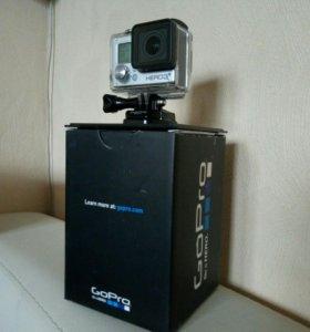 GoPro Hero 3+ Silver Edition с креплениями и 32гб