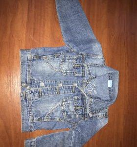 Джинсовая курточка рост 104-110