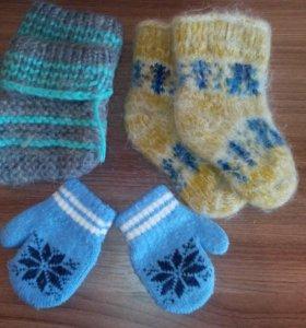 Варежки и носочки для маленьких