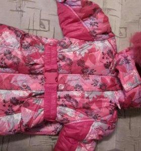 Куртка зимняя с меховой жилеткой