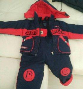 Комплект куртка и комбенизон
