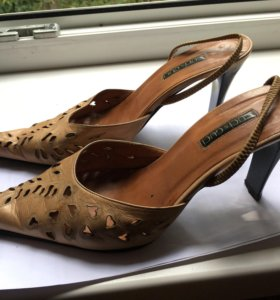 Туфли-босоножки каблук 5см Нат кожа р.39