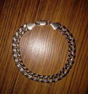 Мужской браслет,серебро,925 проба,23см.8мм.ширина