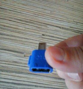 Переходник адаптер OTG с разьема Micro USB на USB