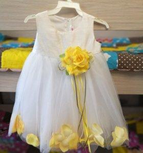 Нарядное платье для девочки 80рр