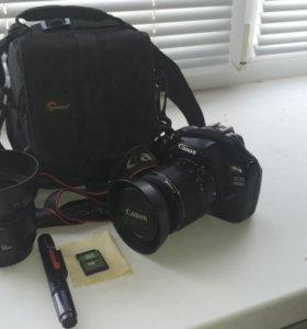 Canon 1100D с аксессуарами